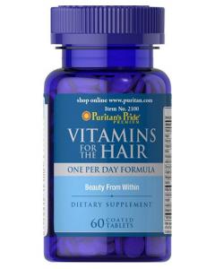 PURITAN'S PRIDE Vitamins for the Hair 60tbl - vitamiinit hiuksille