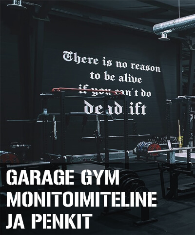 Garage Gym monitoimiteline ja penkit